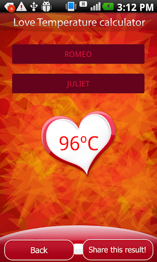 New Year Love Temperature Test