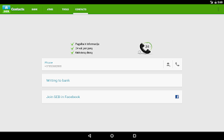 Screenshot of SEB Lietuva