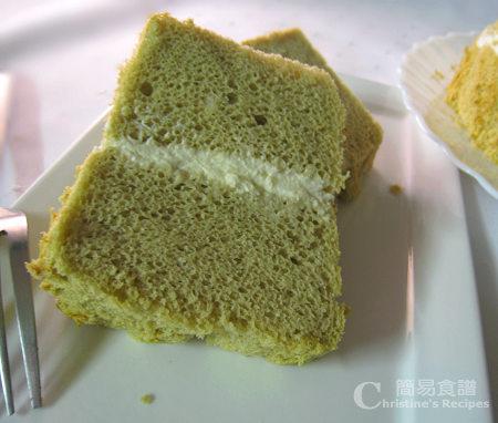 鮮忌廉綠茶戚風蛋糕 Green Tea Chiffon Cake