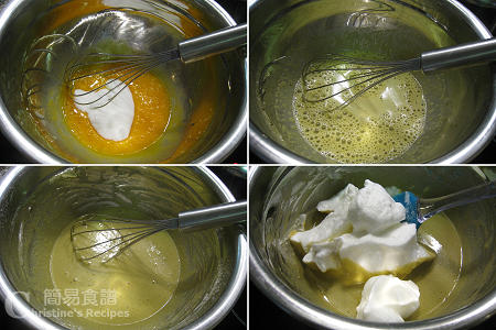 Green Tea Chiffon Cake Procedures