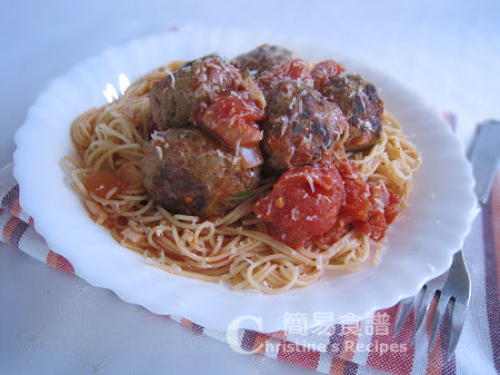 Meatballs with Angle Hair Pasta