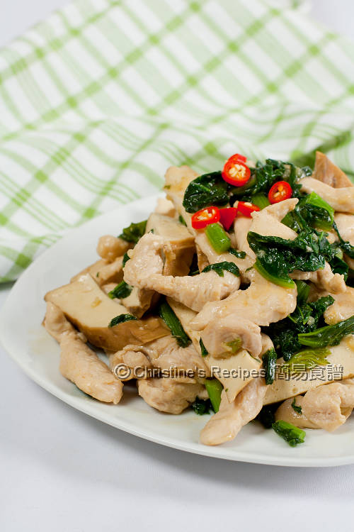 雪菜雞絲炒百頁豆腐 Stir-fried Chicken with Tofu and Salted Vegetables01