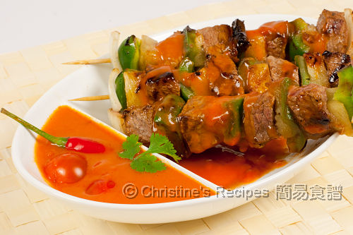 甜辣茄汁串燒牛仔粒 Grilled Veal with Spicy Tomato Sauce01