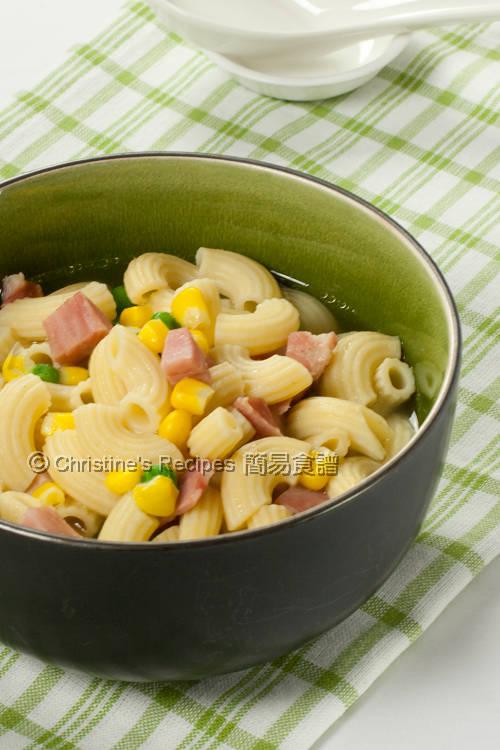 Macaroni soup with ham hong kong style breakfast christines macaroni soup with ham forumfinder Choice Image