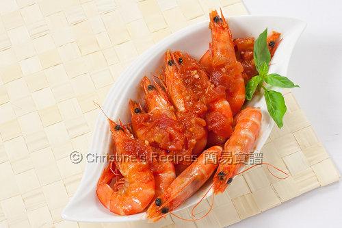 Tomato Chilli Prawns02