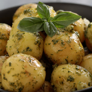 New Potatoes with Pesto.