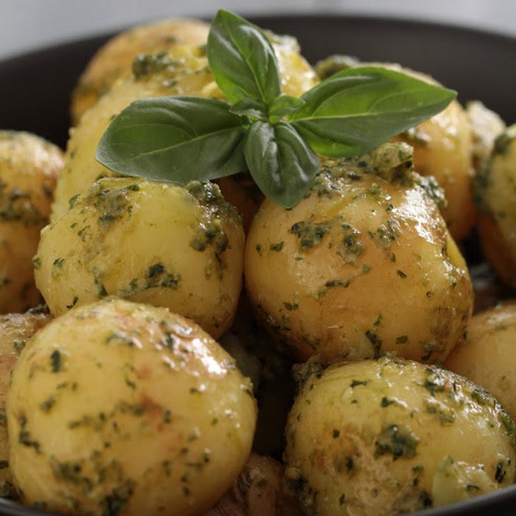 New Potatoes with Pesto