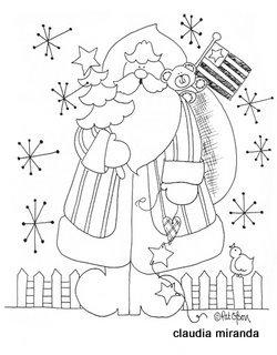Arte Com Quiane Paps E Moldes De Artesanato Papai Noel Para