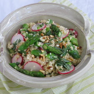 Quinoa Salad with Spring Vegetables and Buttermilk Dressing