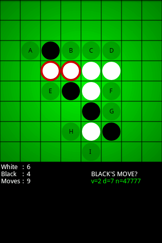 Reversi for Android - screenshot