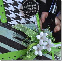 GREEN AND BLACK 12X12 SCRAPBOOKING PAGE 2
