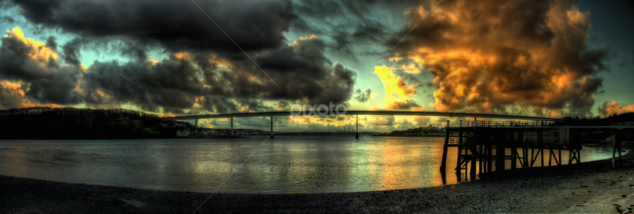 The Cleddau by Simon Eastop - Landscapes Waterscapes ( hdr, pano, wales, cleddau, panorama, pembrokeshre,  )