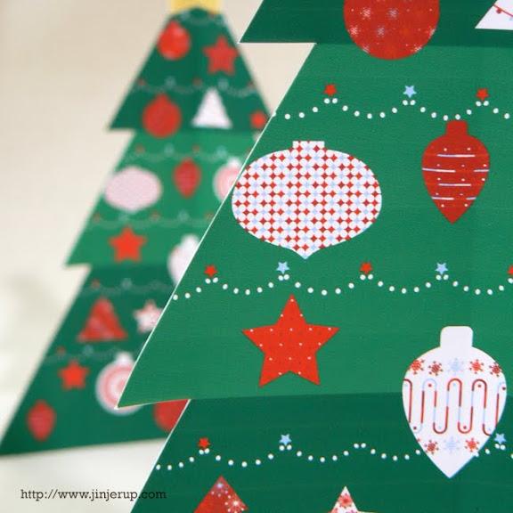 Jinjerup Printable Mini Christmas Tree Green
