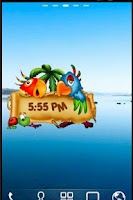 Screenshot of Animated Parrots Alarm Clock