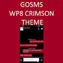 GO SMS WP8 Crimson Red Theme