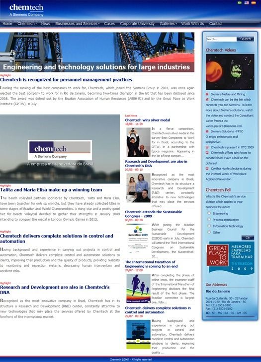 Chemtech's site also known as chemsite