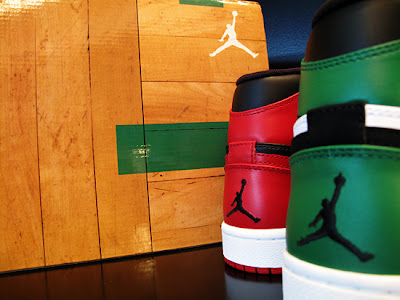 new arrival ea4c2 2b290 Two Air Jordan 1 Hi Retros will be featured in the pack, a red white black  version representing the Chicago Bulls and a green white black version ...