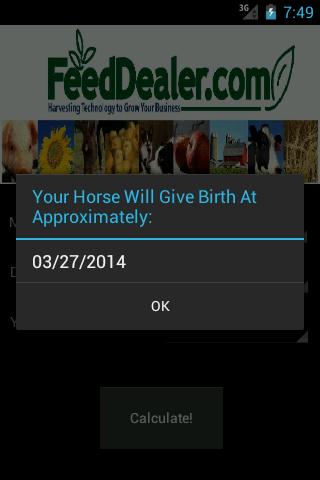 Equine Breeding Calculator