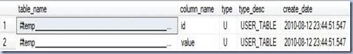 temp vs variable tables - temporary example