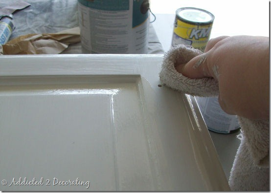 Almost Perfectly Painted Cabinet Doors 6