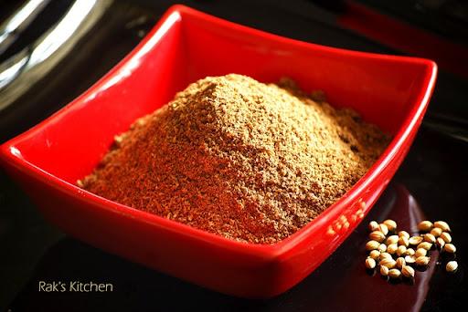 Kothamalli podi for rice