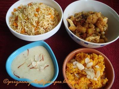 Priya's Microwave spread