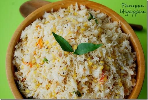 paruppu idiyappam, savory idiyappam varieties