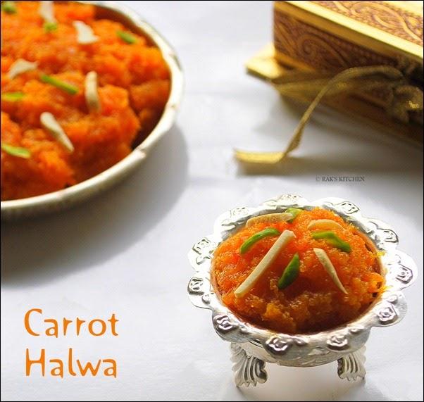 Carrot halwa recipe, carrot halwa without khoya