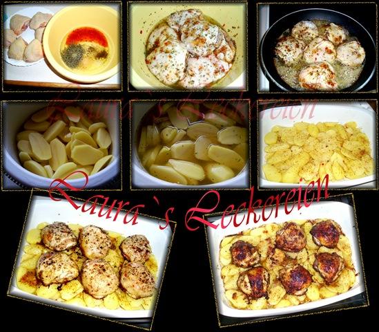 friptura din carne de pasare cu cartofi