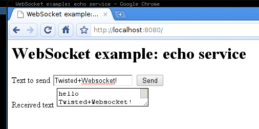 Quick notes on trying the Twisted websocket branch example