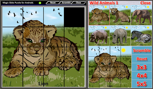 Magic Slide Puzzle W.Animals 1 Screenshot 9