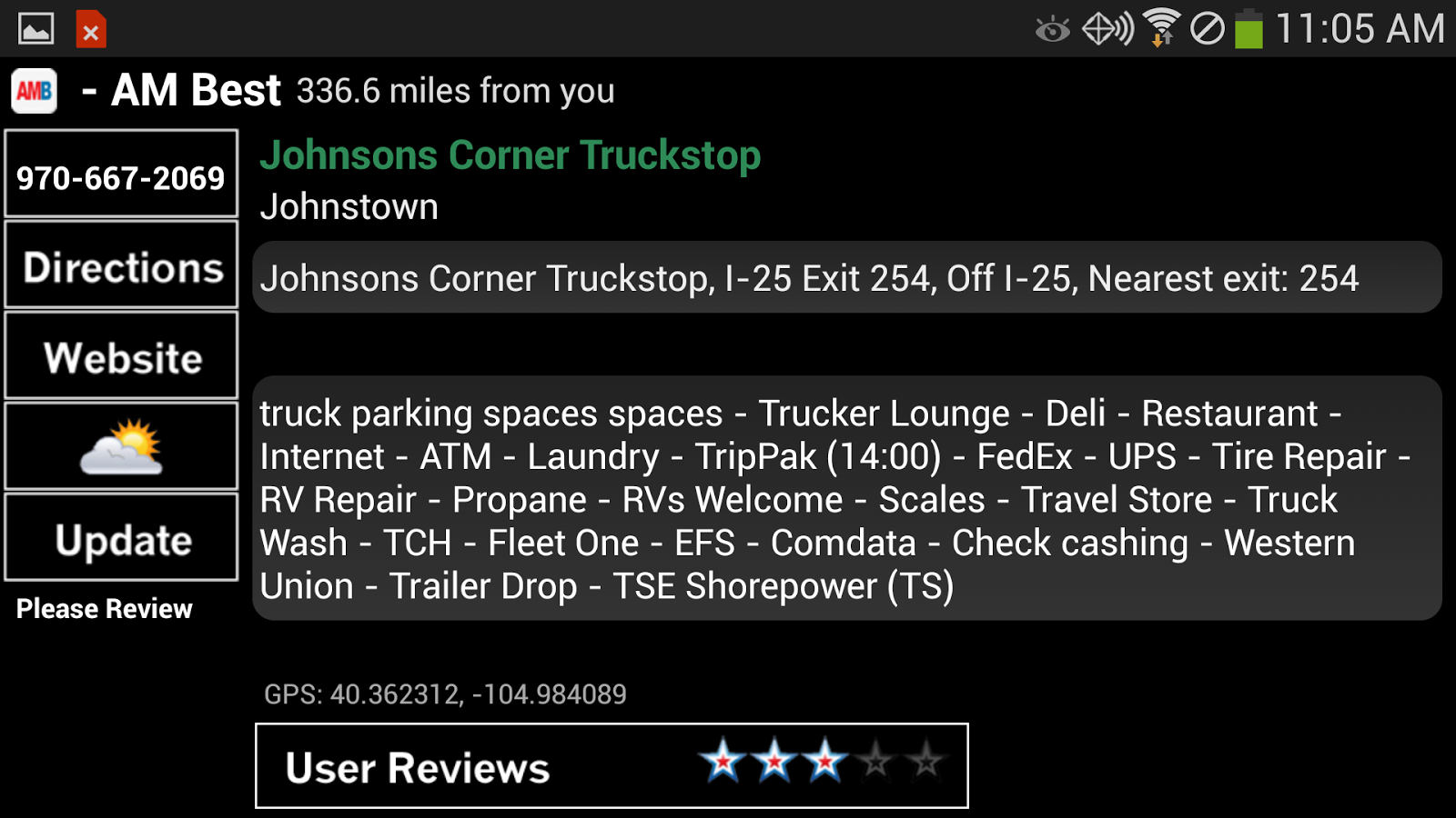 Truck Stops and Travel Plazas - screenshot