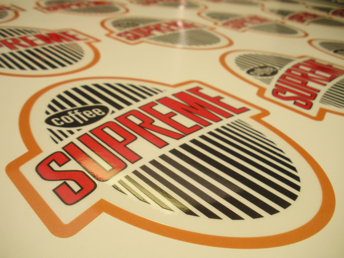Stickers that coffee supreme have ordered if youre after something similar no job is too small or too big give us a call and our friendly staff will