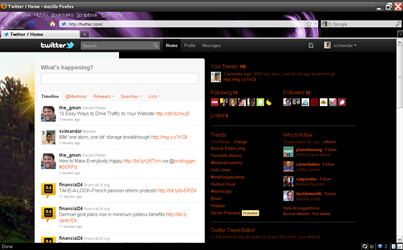 Twitter new interface preview