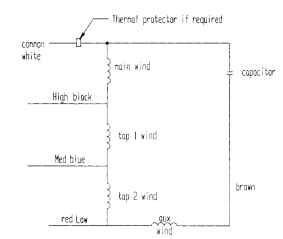 psc motor wiring diagram wiring diagram and schematics permanent split capacitor psc motor circuit wiring diagram and source · l connected multisd psc motor