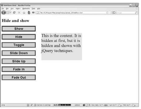 Animating jQuery (Javascript And Ajax)