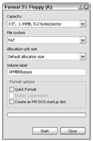 Creating a Startup Disk for Windows XP