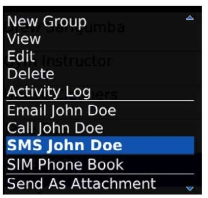 Using SMS and MMS,IM and Sending PIN-to-PIN messages via