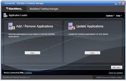 application loader for blackberry mac