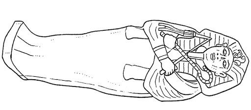 sarcophagus coloring page - tutankamon 39 s egyptian sarcophagus coloring pages