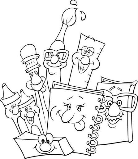 Dibujos De Utiles Escolares Para Colorear Para Ninos Imagui