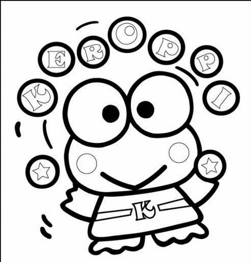 free keroppi coloring pages - photo #1