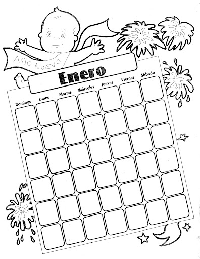 January Coloring Page • FREE Printable eBook | Coloring pages, New ... | 512x396