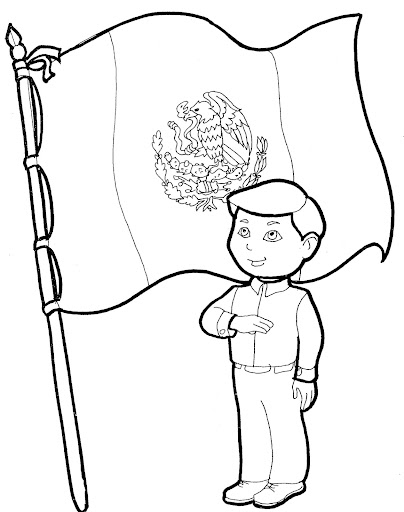 Mexican Flag Coloring Page Cinco de Mayo Craft | 512x404