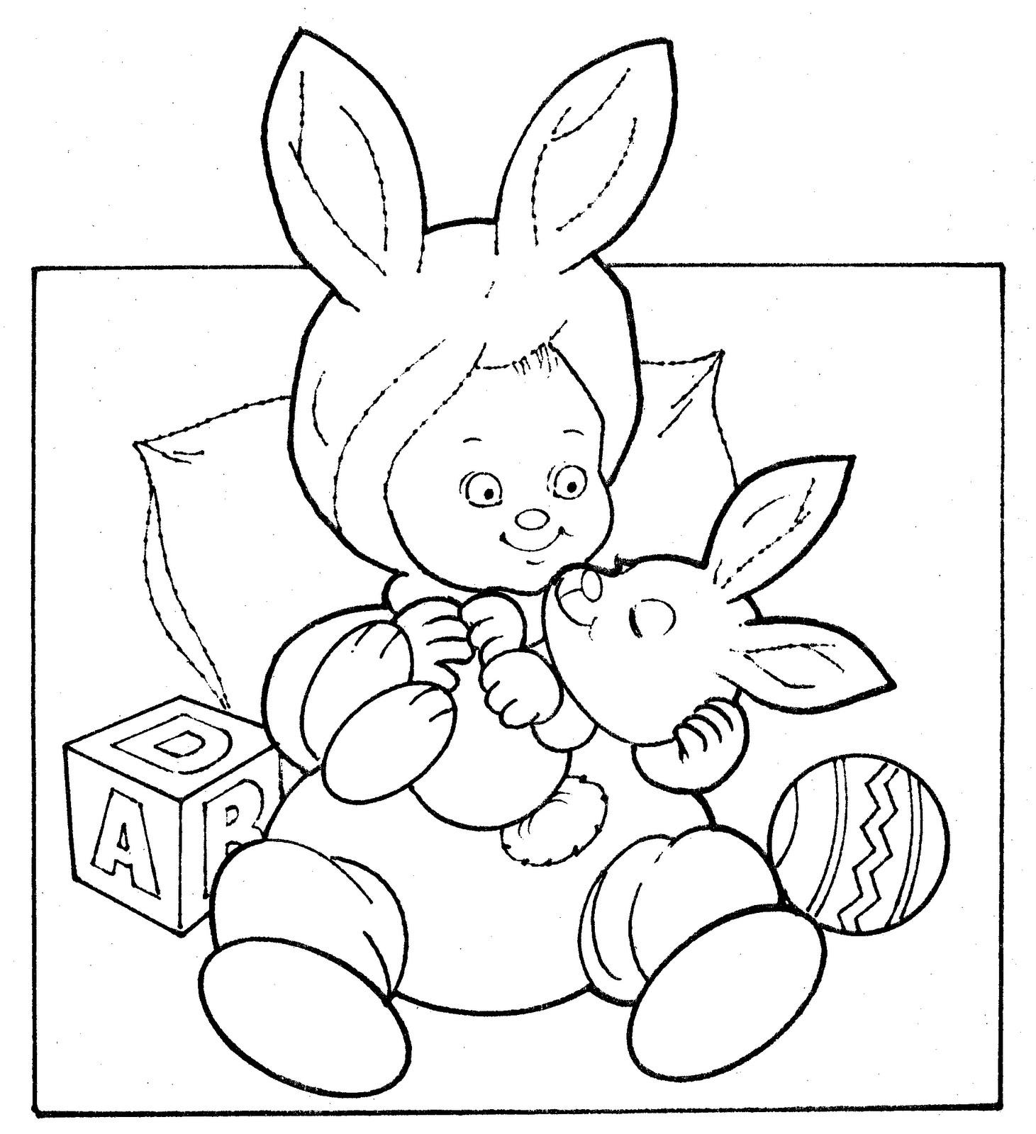 為孩子們的著色頁: Easter bunny costume - free coloring pages