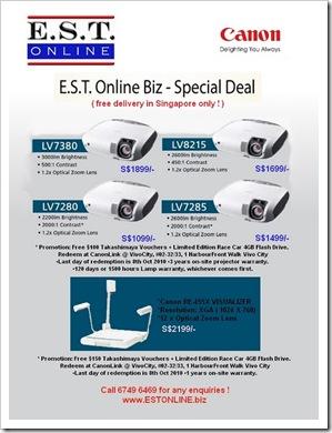 6f6b6b537b63f2 E.S.T. Online Biz - Special Projector Promotion