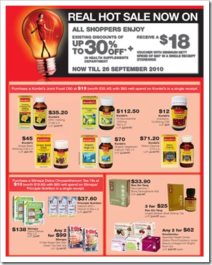 217bb2b4f7a62f All Shopper Enjot Existing Discount up to 30% off in health suppliement  department and Receive a  18 voucher with minimum nett spends of  80 in ...