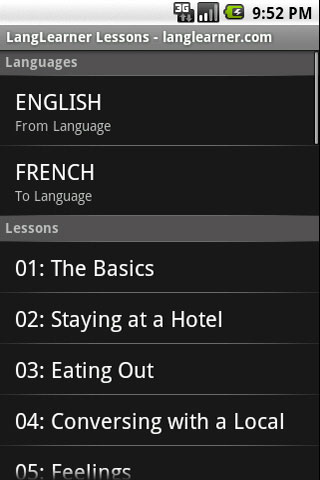 LangLearner Lessons Free - screenshot