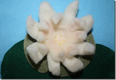 wet felt water lily