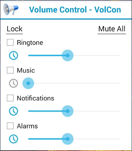 Volume Control Lock Schedule